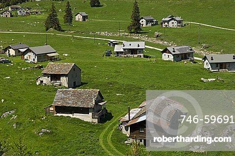Acquacalda village, Lucomagno, Switzerland, Europe