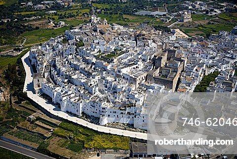 Aerial view, Ostuni, Puglia, Italy