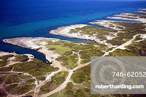 Aerial view of Merlata coast, Ostuni, Puglia, Italy