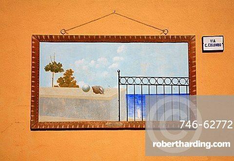 Murales, Ustica, Ustica island, Sicily, Italy