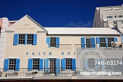 Typical architecture, Hamilton, Bermuda, Atlantic Ocean, Central America