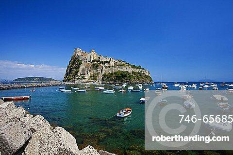 The Aragonese Castle, Ischia Ponte, Ischia, Campania, Italy.