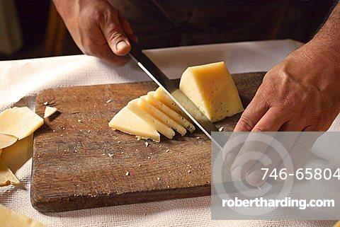 Sheep's cheese, Sardinia, Italy, Europe