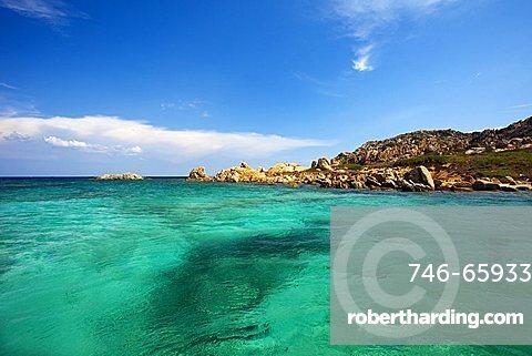 Mortorio Island, Sardinia, Italy. Emerald sea