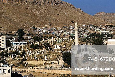 The ancient graveyard,  Mardin, Turkey, Europe