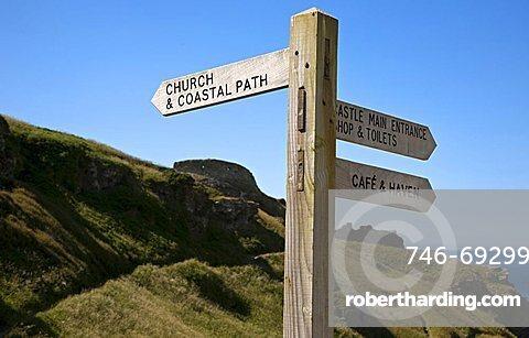 Tintagel Castle, Tintagel, Cornwall, England, Great Britain