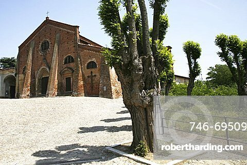 St. Francis church, 12th century, Cassine, Alessandria, Piedmont, Italy, Europe