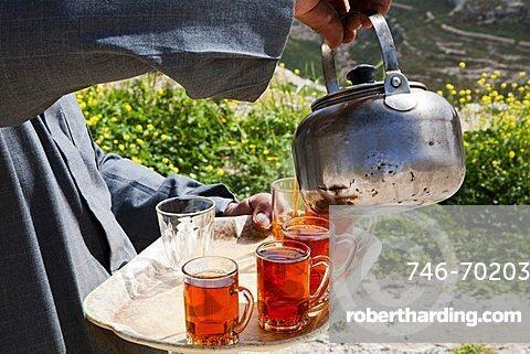Middle East, Jordan, Bedouin hospitality, the tea