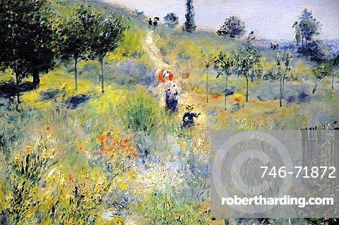 Path Climbing Through Long Grass, Pierre-Auguste Renoir, Musee d'Orsay, Paris, Ile-de-France, France, Europe
