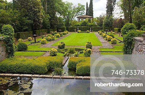 Spanish garden, Villa Marlia, Capannori, Tuscany, Italy