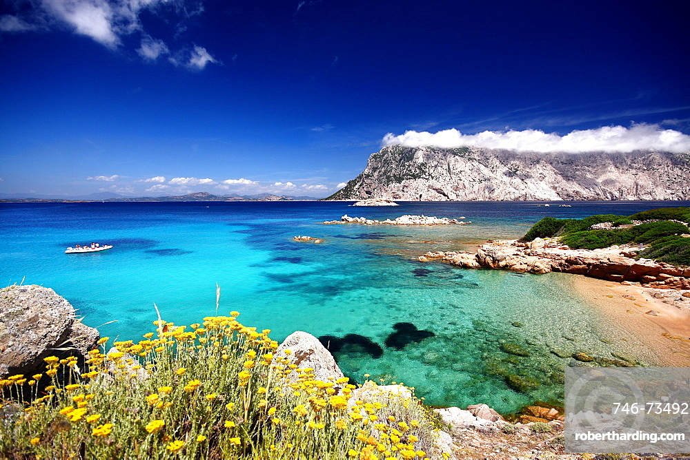 Cala Spalmatore cape, Isola Molara e Tavolara islands, Porto San Paolo, Loiri (OT), Sardinia, Italy, Europe