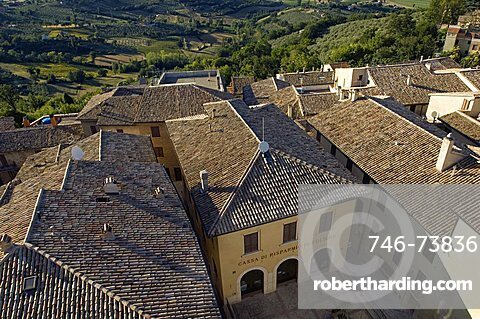 View from the Tower of Montefalco, Umbria, Italy, Europe