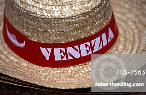 Souvenir hat, Venice, Veneto, Italy