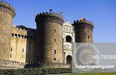 Maschio Angioino castle, Naples,Italy,Europe