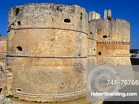 Castello Aragonese castle, Otranto, Salento, Apulia, Italy, Europe