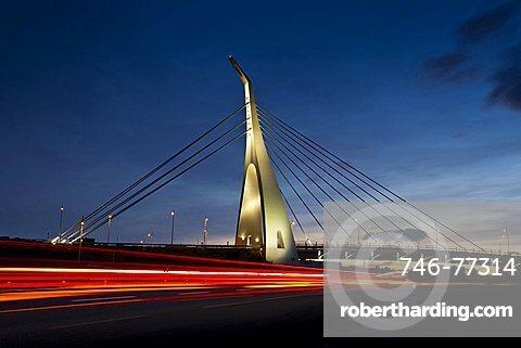 Cable-stayed bridge, Monserrato (CA), Sardinia, Italy, Europe