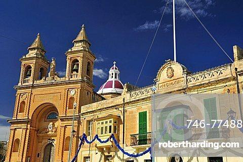 Parish Church, Marsaxlokk. Malta. Europe.