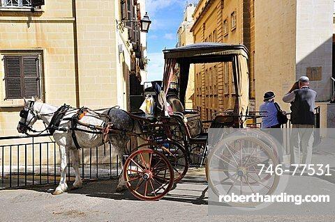 Typical coach, Valletta, Malta, Europe