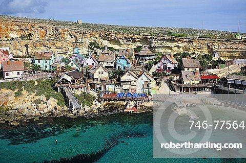 Popeye Village, Anchor bay, Malta, Europe