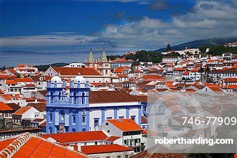 View of Angra do Heroismo, Terceira,  Azores Island, Portugal, Europe