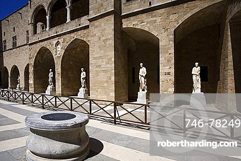 Palace of the Grand Master, Rhodes, Dodecanese, Greek Islands, Greece, Europe