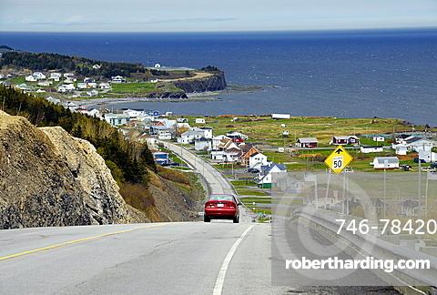 Coastal road, East Coast, Gaspesie, Gaspe peninsula, Quebec, Canada, North America