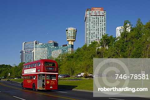 Double-decker bus, Niagara Falls, Ontario, Canada, North America
