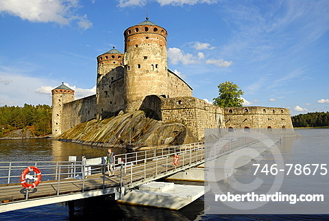 Olavi's Castle on the lake, Savonlinna, Southern Savonia, Finland, Scandinavia, Europe
