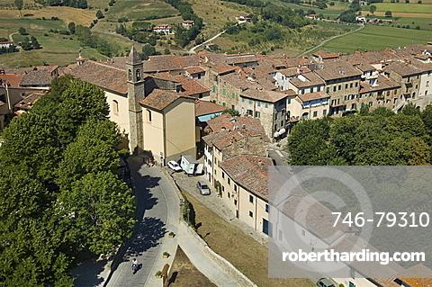village view, poppi, italy