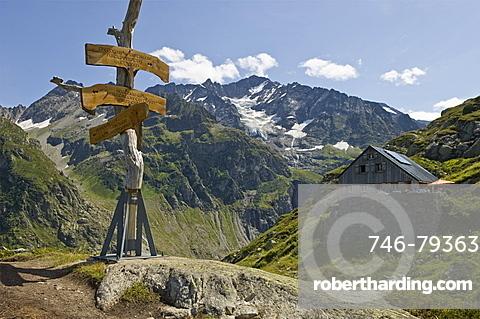 windegg mountain refuge, trift glacier, switzerland