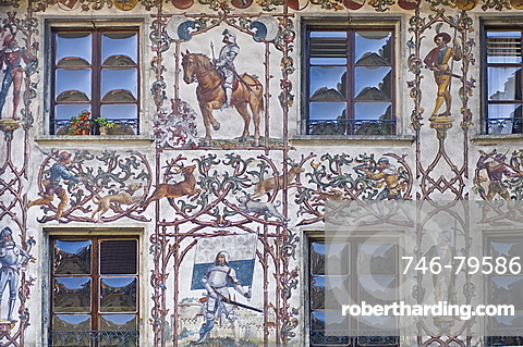 building in the historical centre, lucerne, switzerland