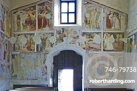 st. sebastian church: frescoes, nembro, italy