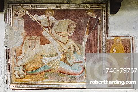 santuario della nativita: fresco, cerete basso, italy
