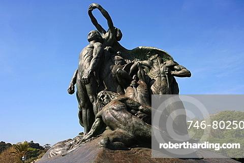 Statua Giuseppe Garibaldi statue, Quarto dei Mille, Ligury, Italy, Europe