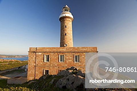Capo Sandalo Lighthouse, St Pietro Island, Carloforte, Sulcis, Iglesiente, Carbonia Iglesias, Sardinia, Italy, Europe