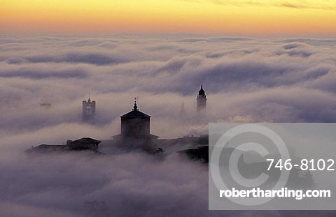 Sunrise, Bergamo, Lombardy, Italy