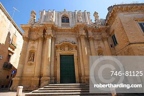 Favßade, Santa Teresa church, Lecce, Salentine Peninsula, Apulia, Italy