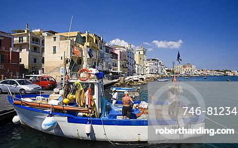 Ischia ponte village, Ischia Island, Campania, Italy, Europe