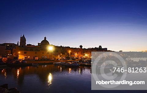 Procida harbour,Procida island,Naples,Campania,Italy,Europe.