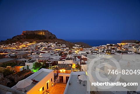 Foreshortening, Lindos, Rhodes island, Dodekanes, Greece, Europe