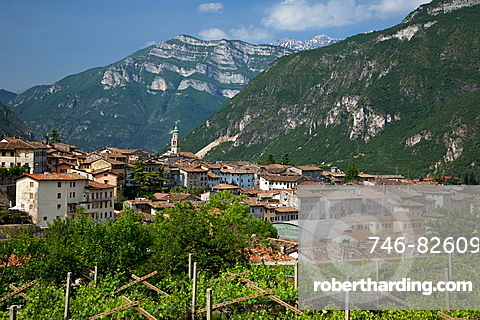 view of Ala, Vallagarina, Trentino, Italy, Europe