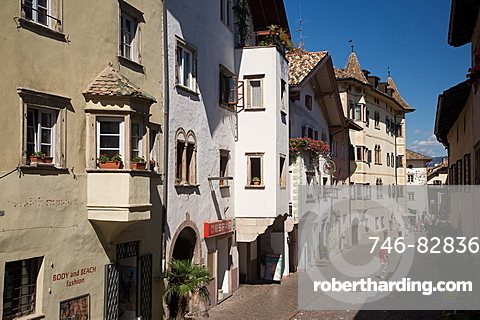 view old town of Caldaro village, Alto Adige, Sudtirol, Italia, Europe