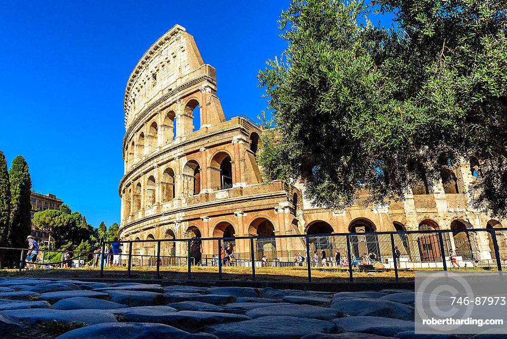 Colosseum or Coliseum, also known as the Flavian Amphitheatre, Roman Forum, UNESCO World Heritage Site, Rome, Lazio, Italy, Europe