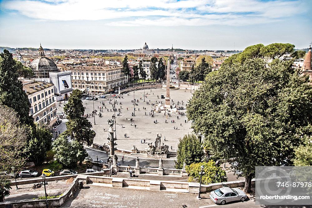 Piazza del Popolo, Pincio, Obelisk, Rome, Lazio, Italy, Europa