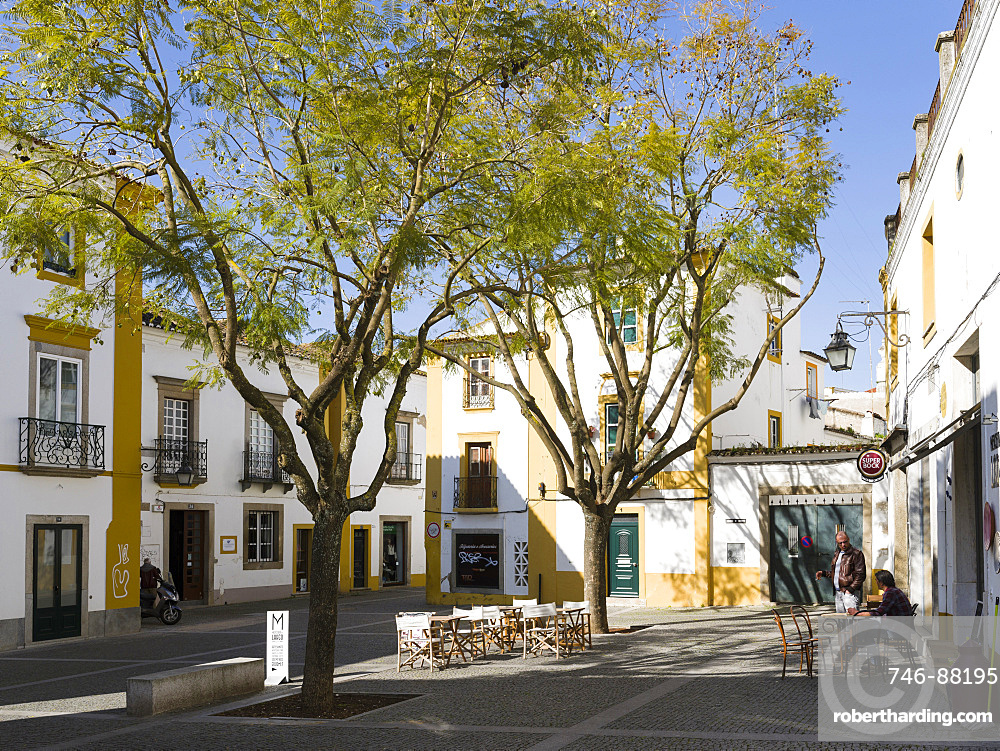 Evora in the Alentejo. The old town is part of the UNESCO World Heritage. Europe, Southern Europe, Portugal, March