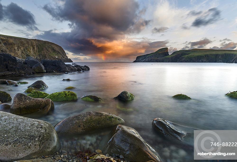 Fair Isle, part of the Shetland Islands, in the far north of Scotland. The coast near Finniquoy. Europe, northern europe, great britain, scotland, Shetland Islands, June