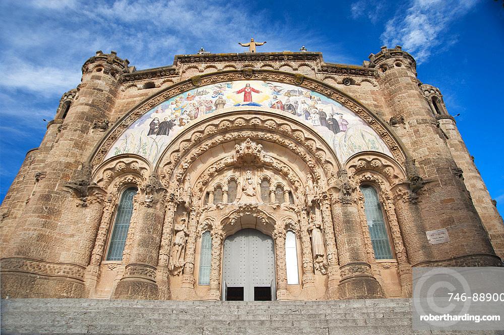 Temple Expiatori del Sagrat Cor Tibidabo, Barcelona, Catalonia, Spain, Europe