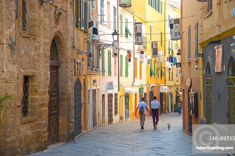 Via Ferret street, Alghero, Sardinia, Italy, Europe