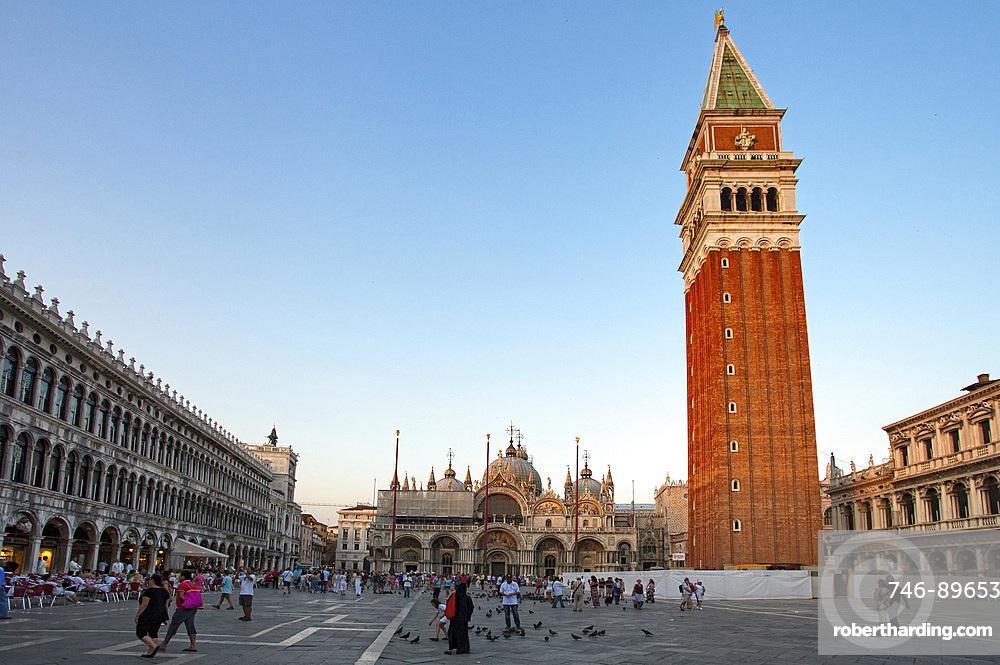 Piazza San Marco square and Basilica di San Marco Dome, Venice, Veneto, Italy, Europe