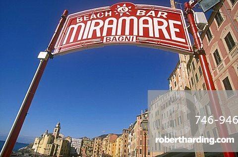 Miramare beach bar, Camogli, Liguria, Italy